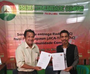 A assinatura do protocolo com a rádio comunidade Comoro
